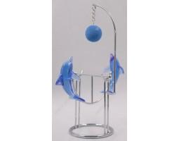 маятник Дельфины с мячиком 16 см, металл
