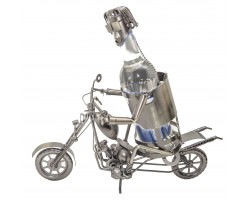 Мотоциклист Подставка для бутылки, металл