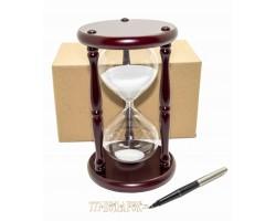 Часы песочные 20 минут  белый  песок VP-STW60020