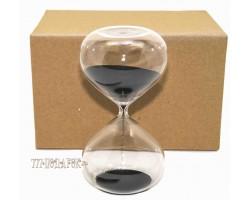 Часы песочные  30 минут,черный  песок
