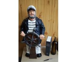 Капитан с штурвалом- напольная статуэтка