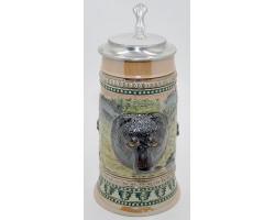 Пивная кружка «Медведь» с крышкой