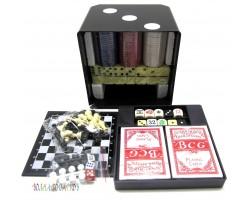 """Набор игр 6 в 1 """"Куб"""" шашки,шахматы,нарды,покер,домино карты"""