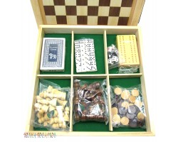 "Набор игр ""6 в 1"" шашки, шахматы, нарды,карты,домино,кости"
