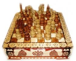 """Шахматы резные """"Ларец""""  40Х40 см"""