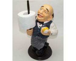 Бильярдист с кием -держатель для полотенец или туалетной бумаки 40 см
