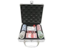 Набор для покера на 100 фишек в кейсе