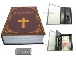 Книга сейф с кодовым замком Bible| 18см