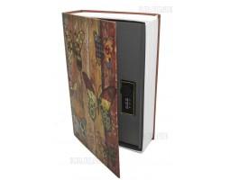 Книга сейф с кодовым замком  Butterfly| 24см