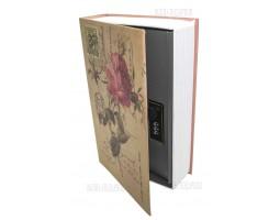 Книга сейф с кодовым замком Rose  24см