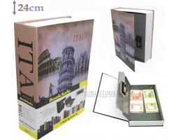 Книга сейф с кодовым замком  Italy| 24см