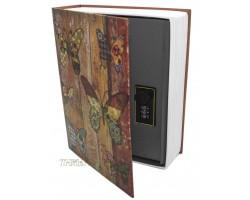 Книга сейф с кодовым замком Butterfly| 27см