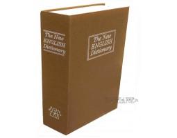 "Книга сейф ""БИЗНЕС""  с кодовым замком  ""The new english dictionary"" GOLD | 27см"