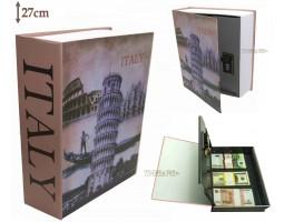 Книга сейф с кодовым замком Italy | 27см