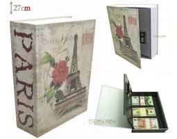 Книга сейф с кодовым замком PARIS| 27см